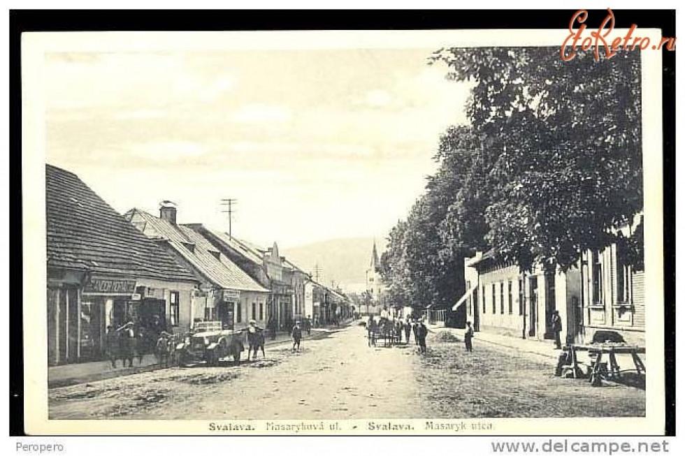 Свалява. Вулиця Масарика. 1910-1938 роки